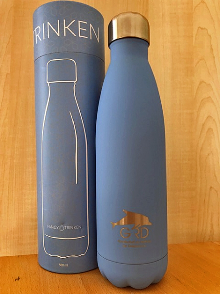 Thermosflasche in blau