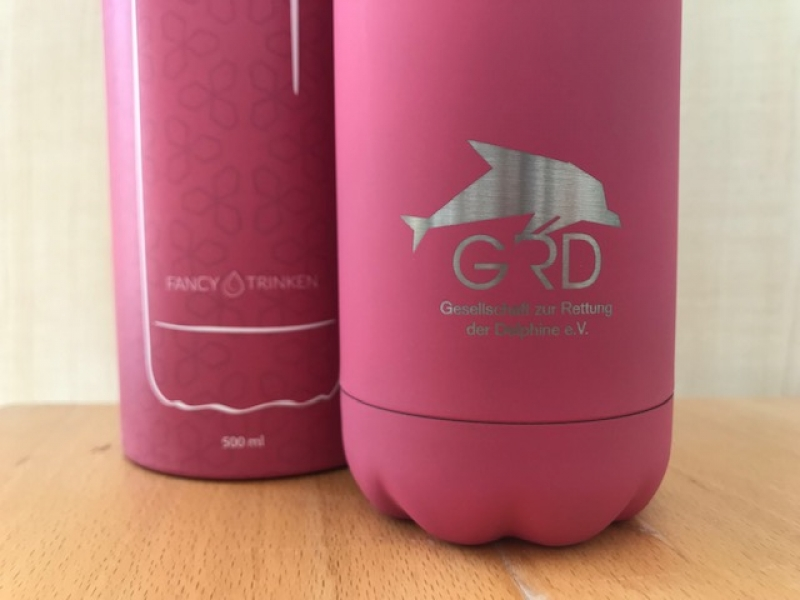 Thermosflasche in rosa